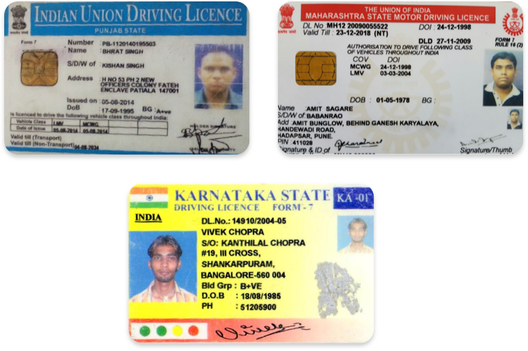 Driver's licenses in Hindi