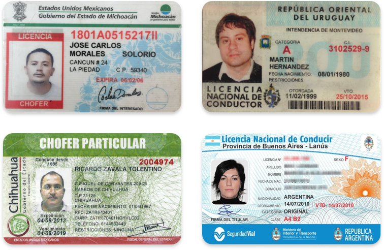 Driver's licenses in Spanish