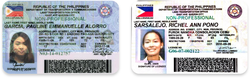 Driver's licenses in Filipino
