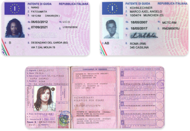 Driver's licenses in Italian